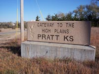Pratt, Kansas Welcome Sign